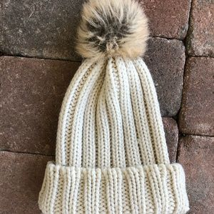 Accessories - Knitted Beanie with Pom Hat